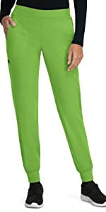model wearing planet koi 744 scrub pants