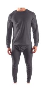 men's thermal set underwear layering top bottom
