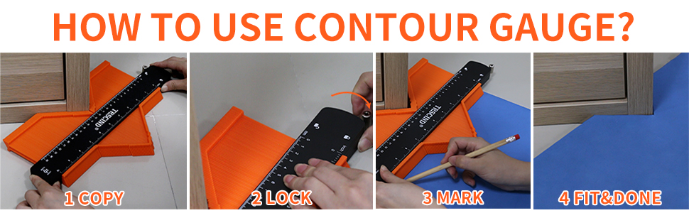 how to use contour gauge profile tool