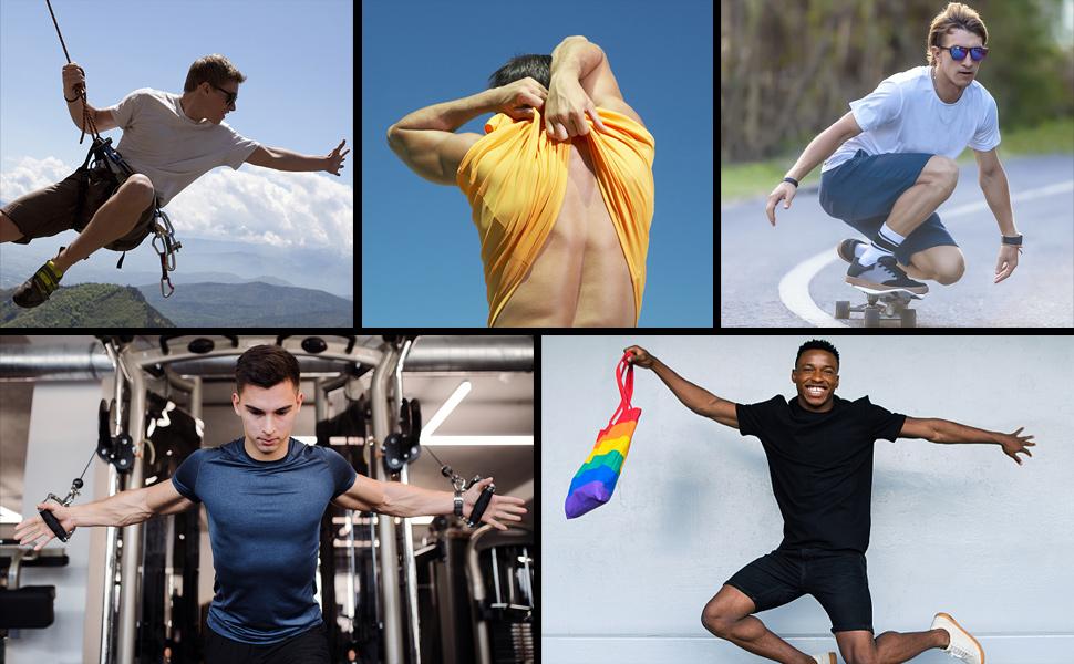 Moisture Gym Training Running Shirts xxltall t-shirts mens white running shirt night run shirt