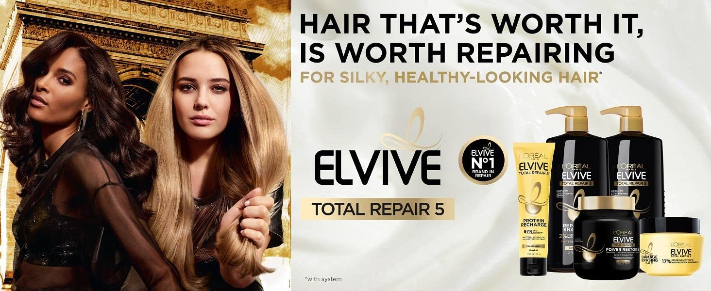 Total Repair 5 models using shampoo and conditioner