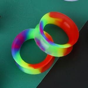 Rainbow Ear Gauges