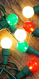 LED Outdoor String Lights Christmas Lights Multi Color for Indoor Tree Holiday Halloween Decor