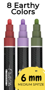 8 Earth 6mm Chalk Markers