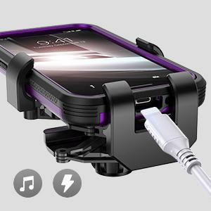 easy access to charging port and audio port