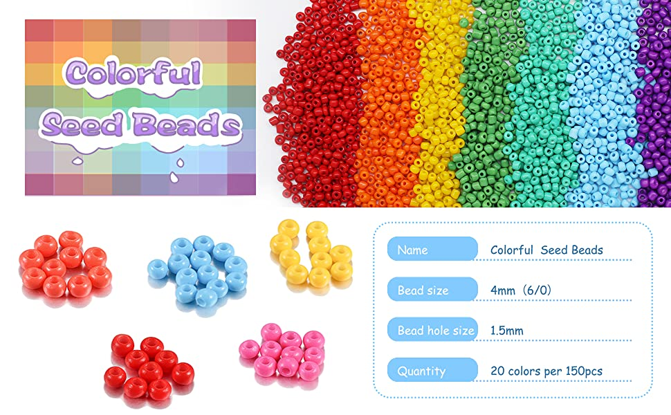Colorful Seed Beads