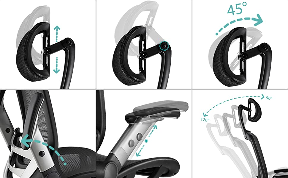 adjustable tall office chair