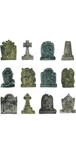 12 pcs Miniature Tombstones