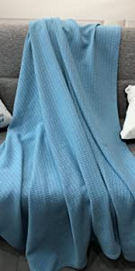 blue throw blanket for couch
