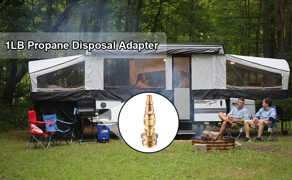 1LB Propane disposal adapter