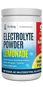 Dr Bergs Electrolyte Powder Lemonade Plus 90 servings