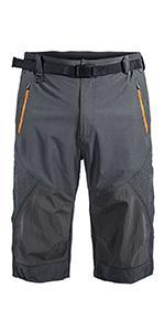 men belted hiking outdoor shorts