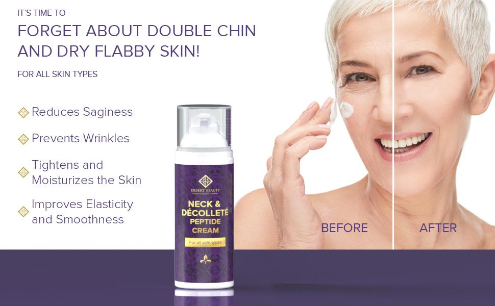 Reduces sagginess, prevents wrinkles, tightens and moisturizes