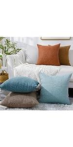 rhombus burlap linen pillow covers