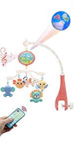 Baby Mobile for Crib with projetor music & night light
