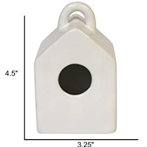 Mini White Birdhouse Size