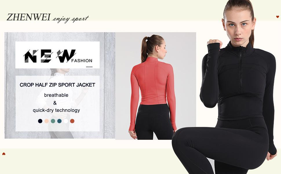 workout jacket for women crop