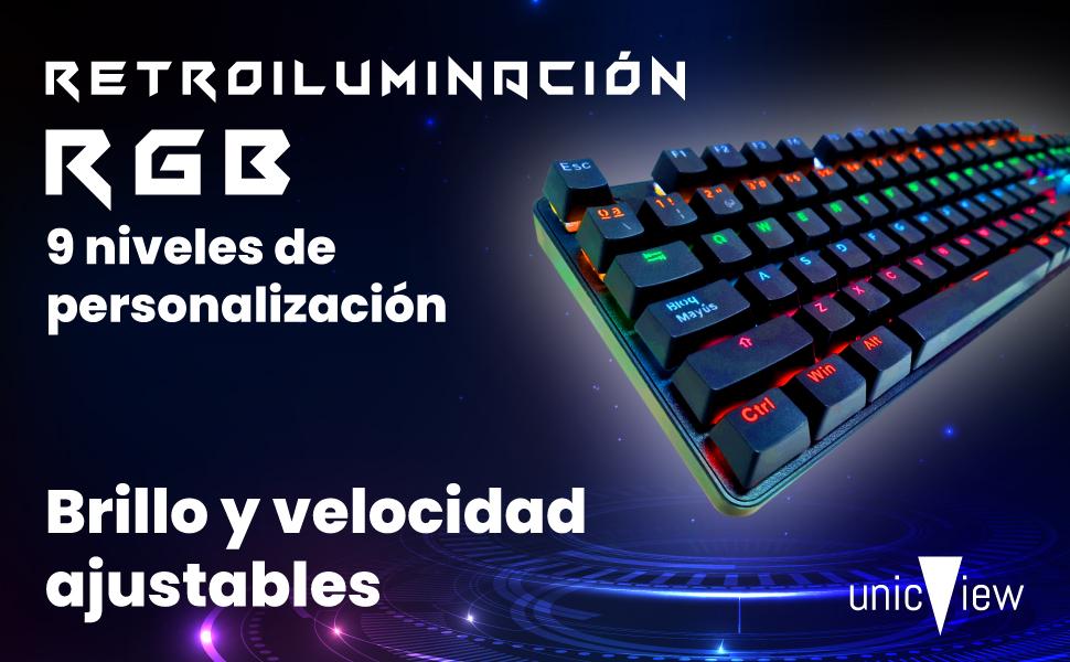 teclado mecanico rgb led, teclado mecanico retroiluminado, teclado mecanico pequeño