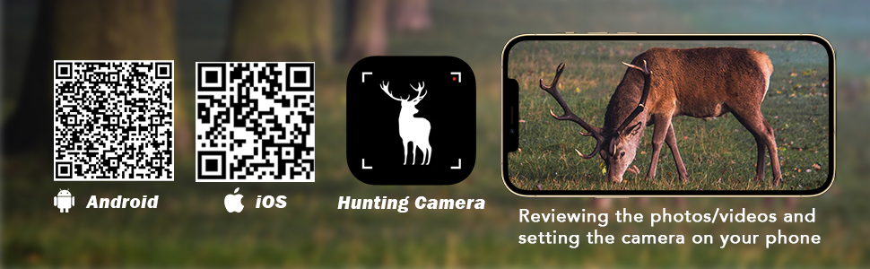 game cameras with APP control