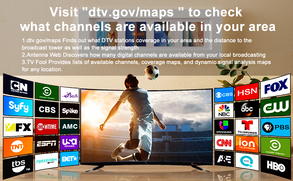 Check what channels are available in your area