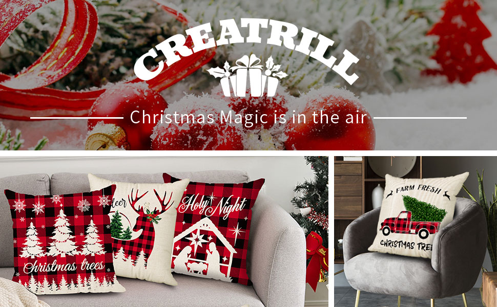 outdoor pillow covers christmas