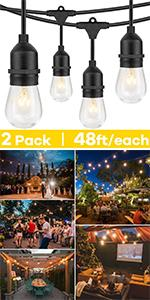 11W Outdoor String Lights