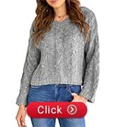 womens v neck hooded jumper