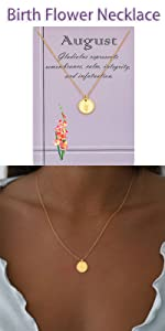 August flower necklace