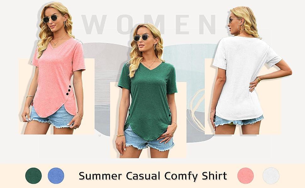 women summer casual comfy shirt
