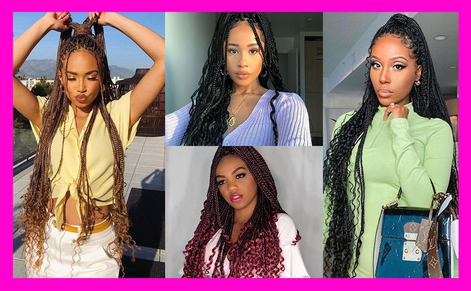 box braids crochet hair 24 inch box braids crochet hair 30 inch box braids crochet hair pre looped