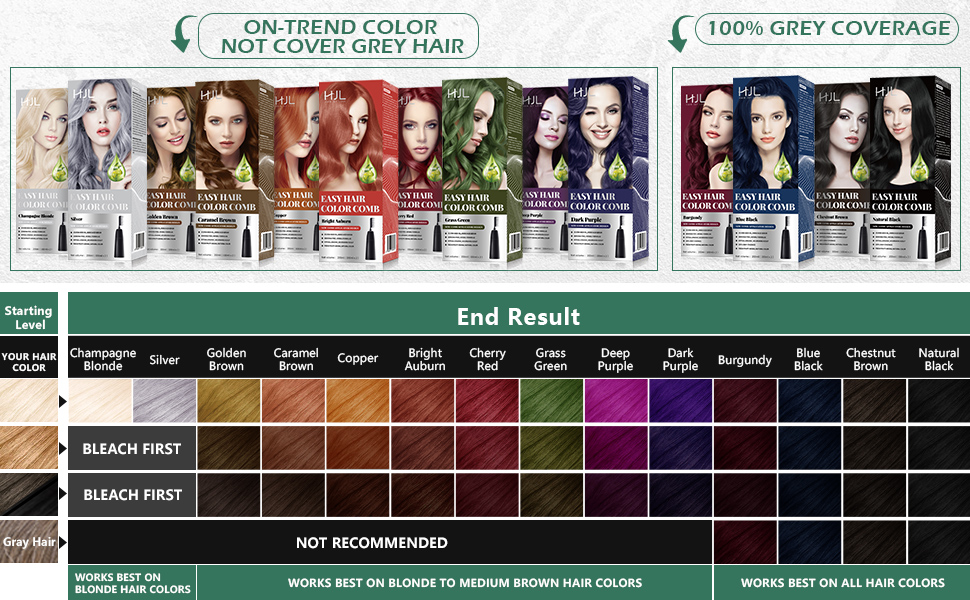 HJL hair dye permanent
