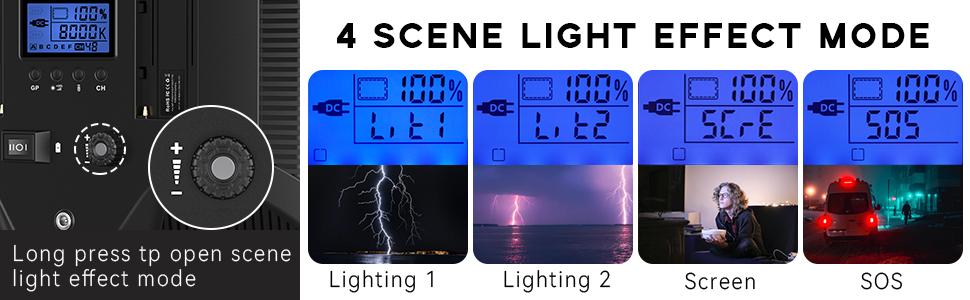 4 SCENE LIGHT EFFECT MODE