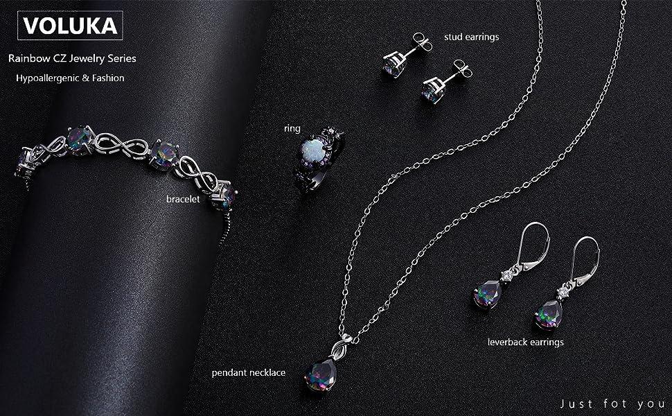 rainbow jewelry set