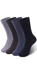 Menamp;#39;s Socks Ceafer Mens Dress Socks Classic Rib Solid Premium Socks