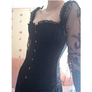 1708 black corset