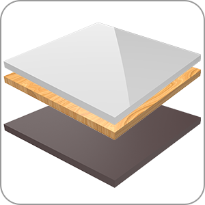 PVC / real wood synthetic board