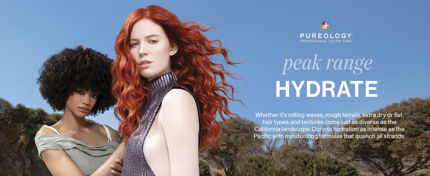 Pureology Hydrate Range - two models standing