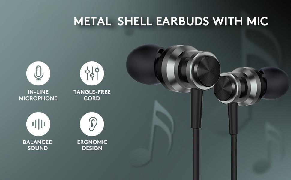 metal earbuds