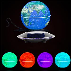 Magnetic Levitation Floating Globe Anti Gravity Rotating World Map with LED Light