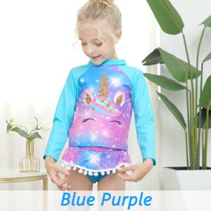 kids girls unicorn rash guards rashguards swimsuits swimwear