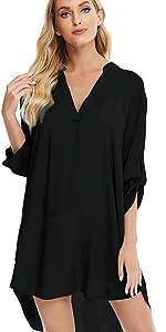 womens v neck beach swimsuit cover up dress