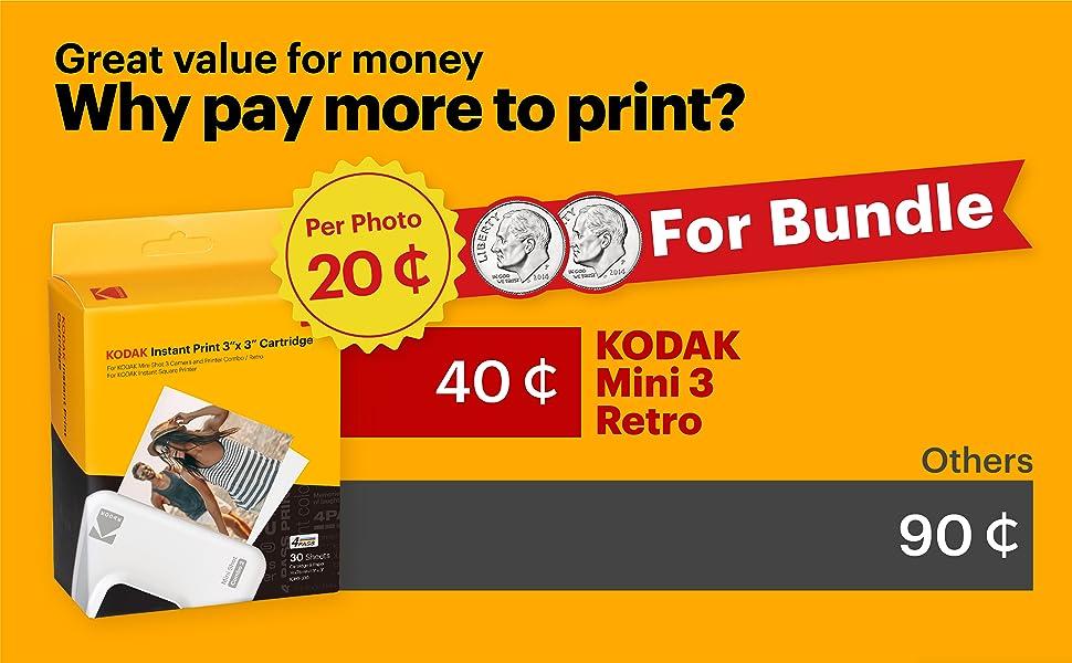 kodak photo printer polaroid instant camera c300r portable printer for iphone and android 4PASS tech