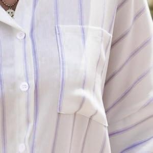 curved hem 3/4 sleeve shirts