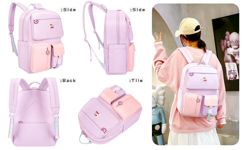 Children's backpack, product appearance details display