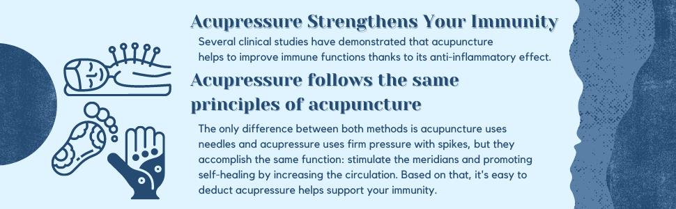 acupressure mat, immunity, immune system