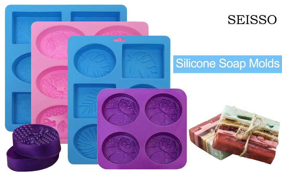 seisso artesanales silicone soap bars molds  soap molds silicone shapes large soap molds