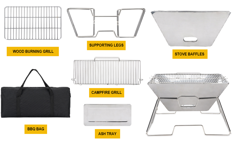 grill camping portable boat fire camp campfire folding pontoonmount bbq outside accessories rail