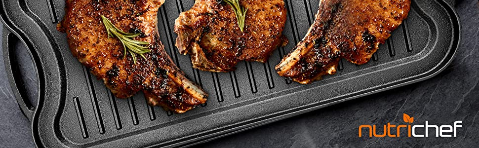 Makes homemade grilled food slide out easily