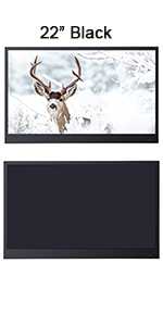 22 inches black color waterproof tv for bathroom