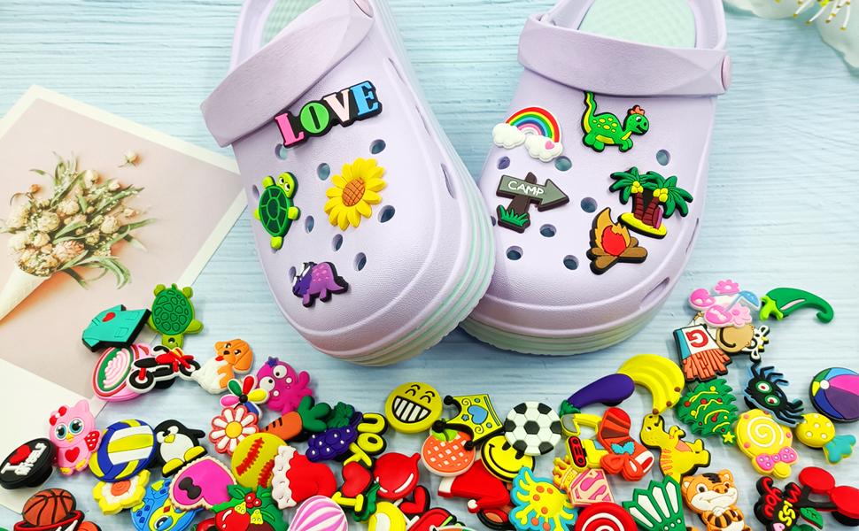 100 Pcs Different PVC Shoe Charms for shoe